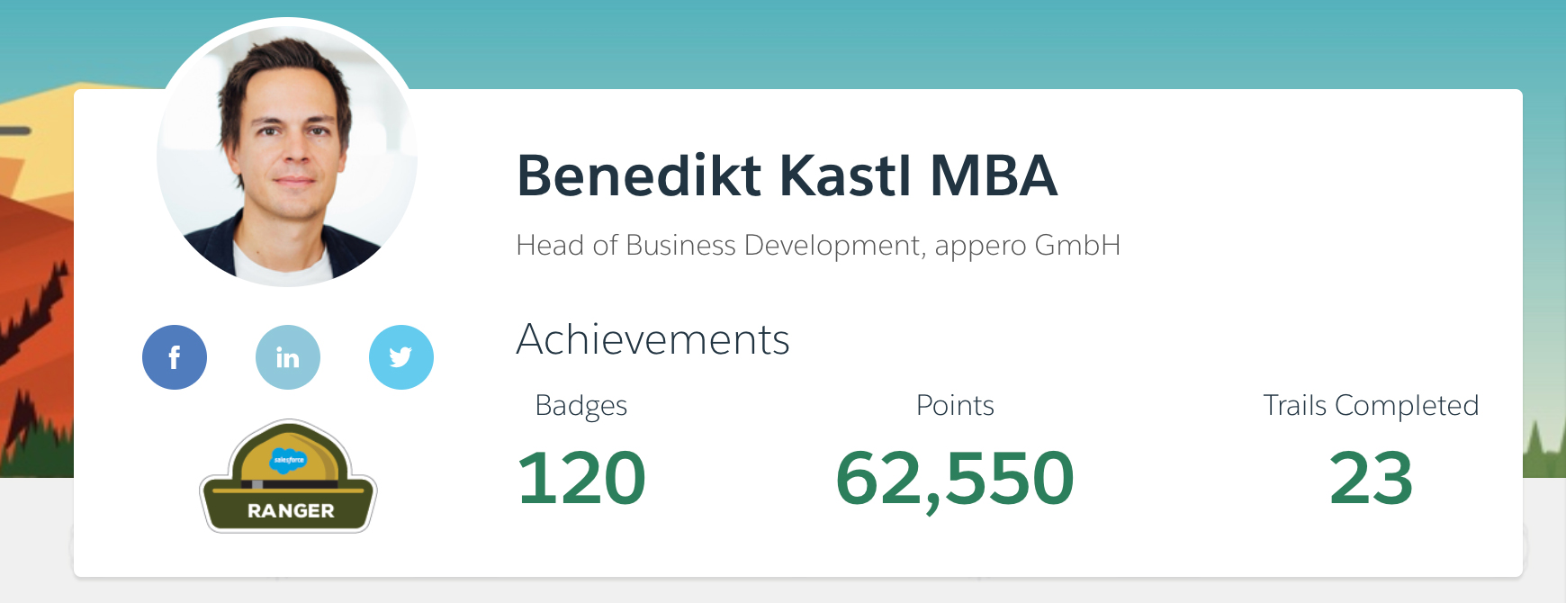 Salesforce Trailhead Profile